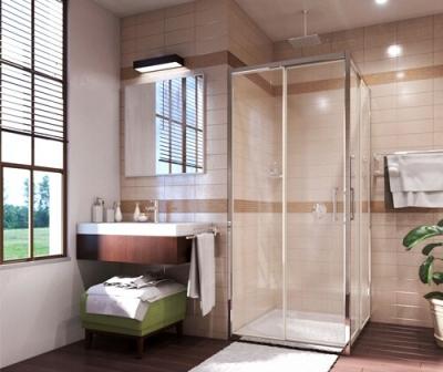 Душевой уголок, квадрат, с раздвижными дверьми WasserKRAFT Main 41S03 (900х900х2000 мм)