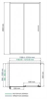 Душевой уголок WasserKRAFT Main 41S10 (1200x1000x2000 мм)