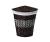 Плетеная корзина для белья с крышкой WasserKRAFT Salm WB-270-L