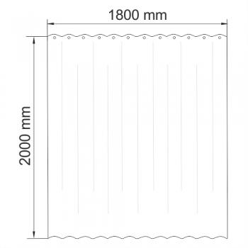 Шторка для ванной WasserKRAFT Isen SC-40101