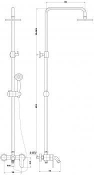 Душевой комплект со смесителем для душа Timo Polo SX-1100 white