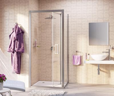 Душевой уголок, квадрат, с универсальной дверью гармошка WasserKRAFT Weser 78F03 (900x900x2000 мм)