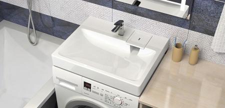 Раковина над стиральной машиной WK S50WHITE с кронштейнами